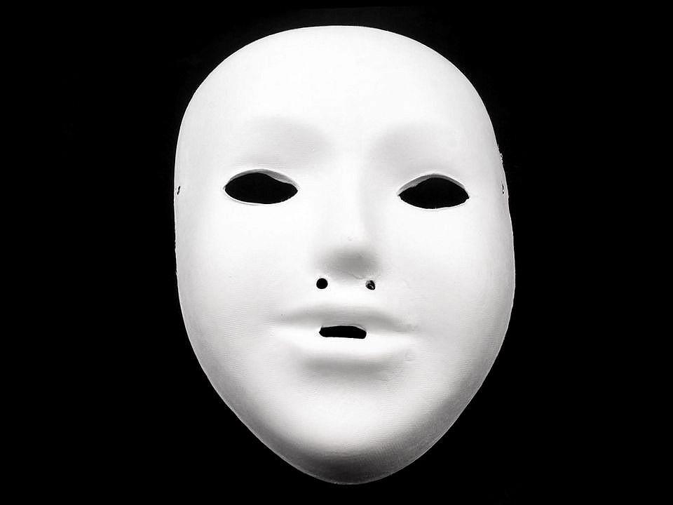 Maska na obličej dětská k domalování 1 ks