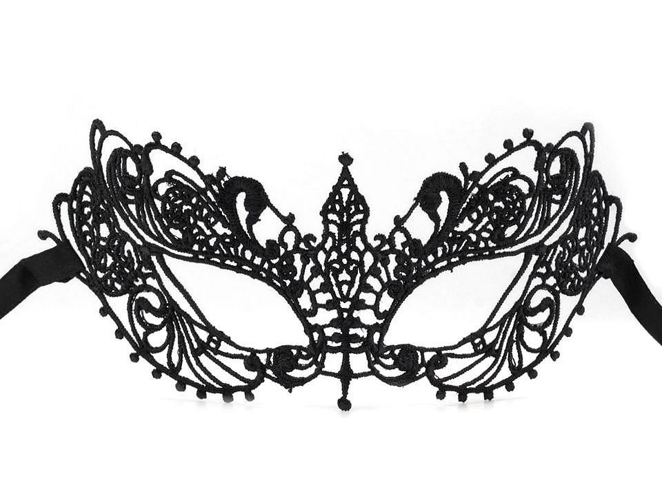 Karnevalová maska - škraboška krajková 1 ks