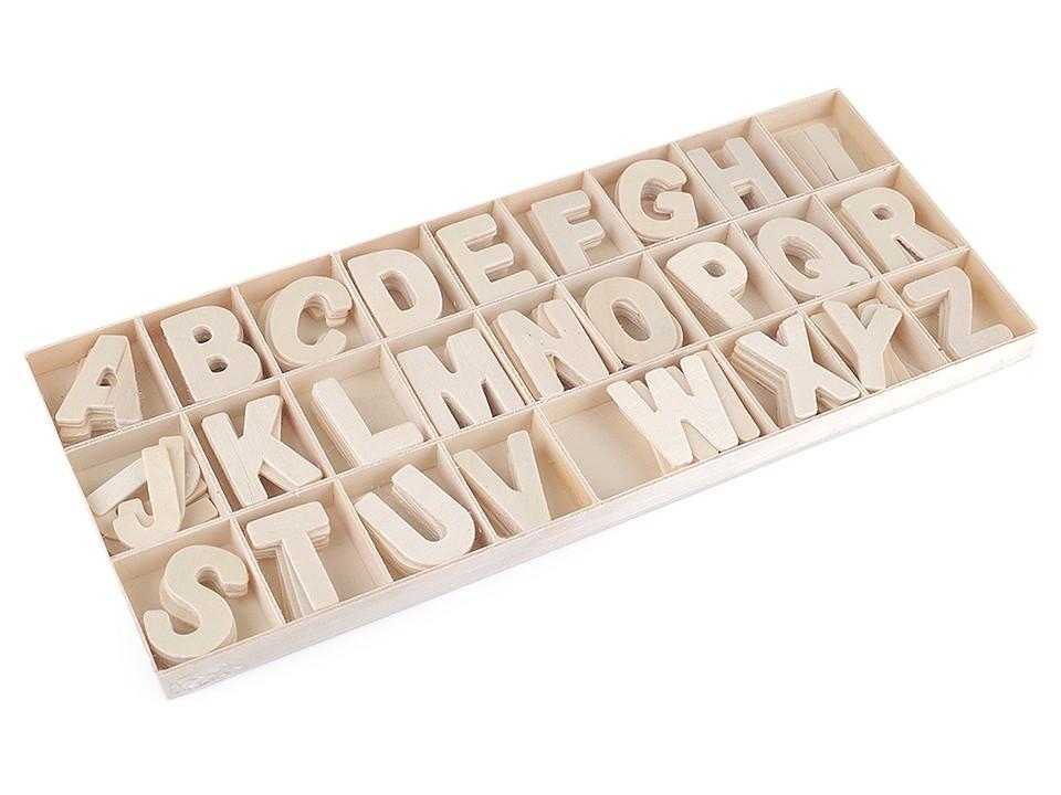 Dřevěná písmena v krabici 1 ks