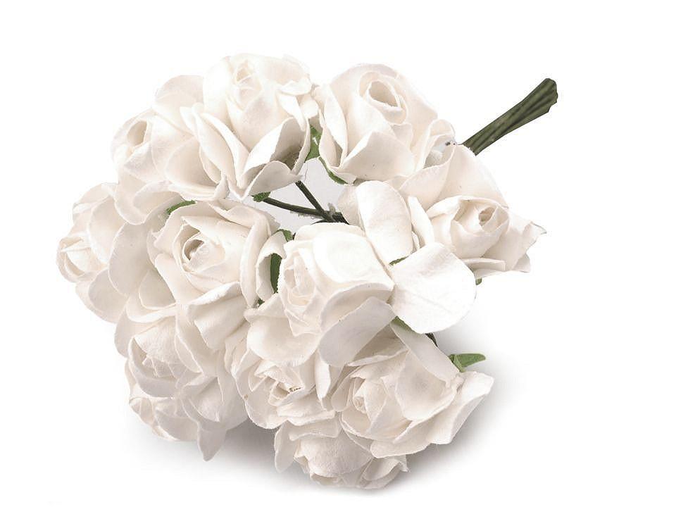 Růže na drátku / polotovar na vývazky Ø20 mm 1 ks