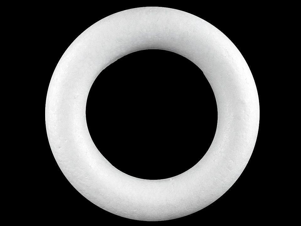 Věnec Ø34 cm polystyren seříznutý 1 ks