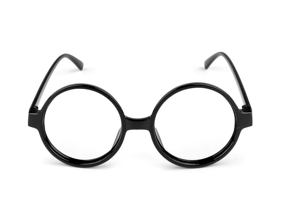 Karnevalové brýle kulaté 1 ks