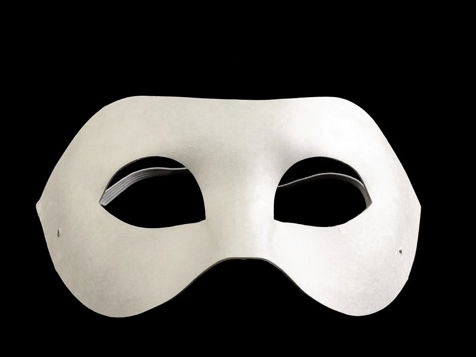 Karnevalová maska - škraboška k domalování 10 ks