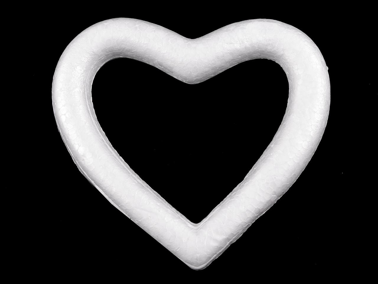 Srdce 12x14 cm polystyren 1 ks