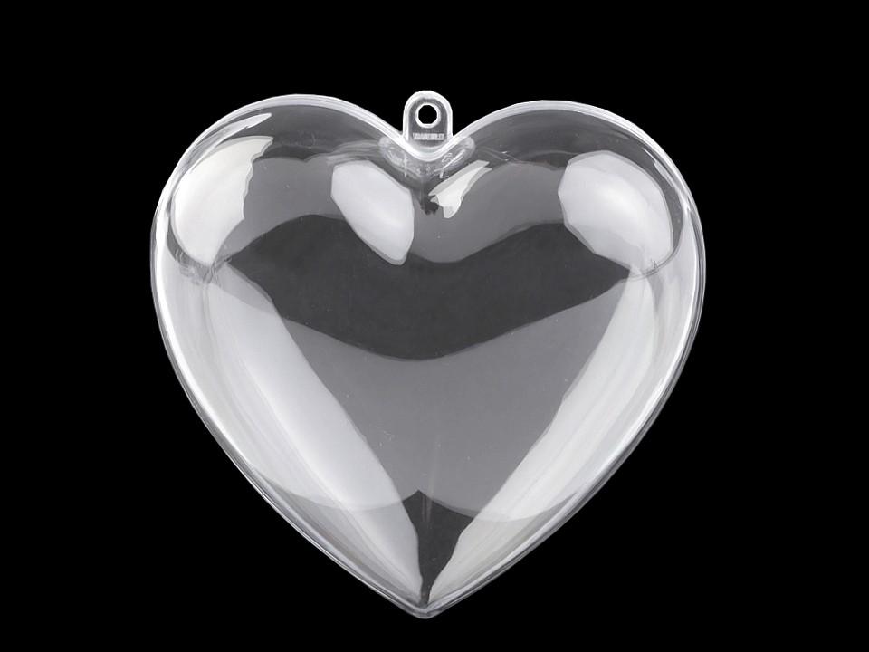 Plastová krabička srdce 10x10 cm dvoudílné 1 ks