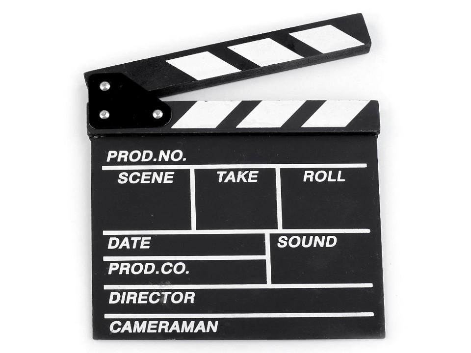 Filmová klapka 20x20 cm 1 ks
