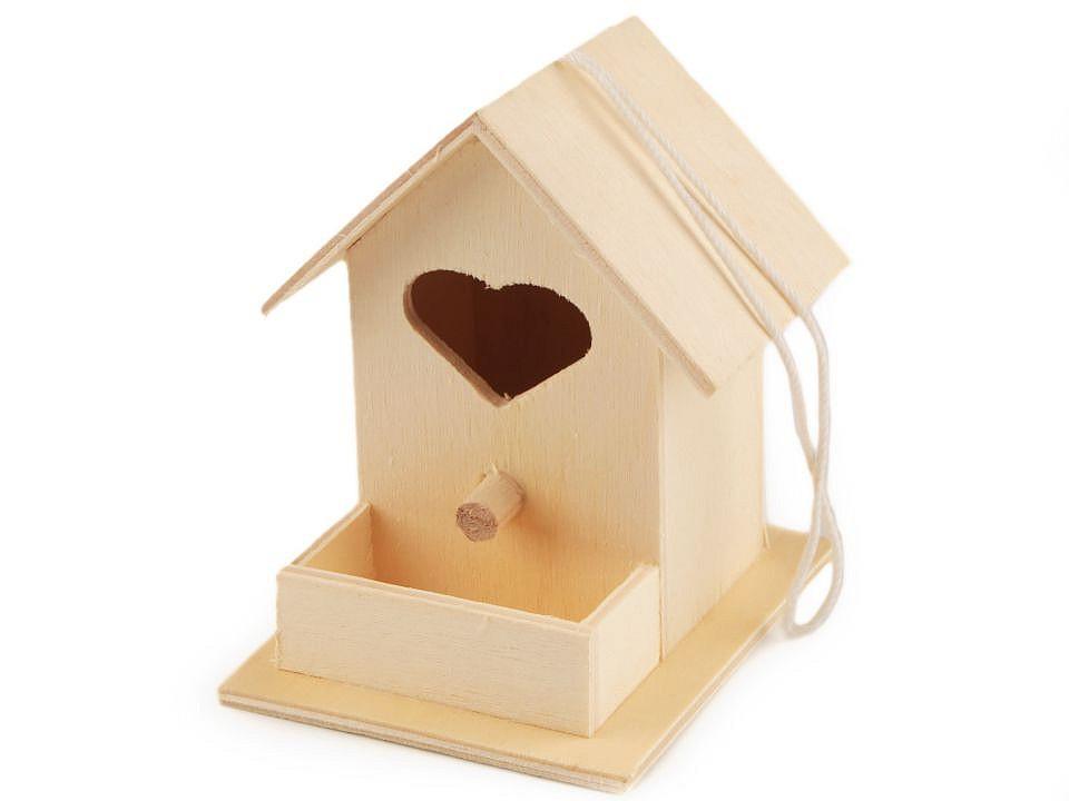 Dřevěná ptačí budka 1 ks