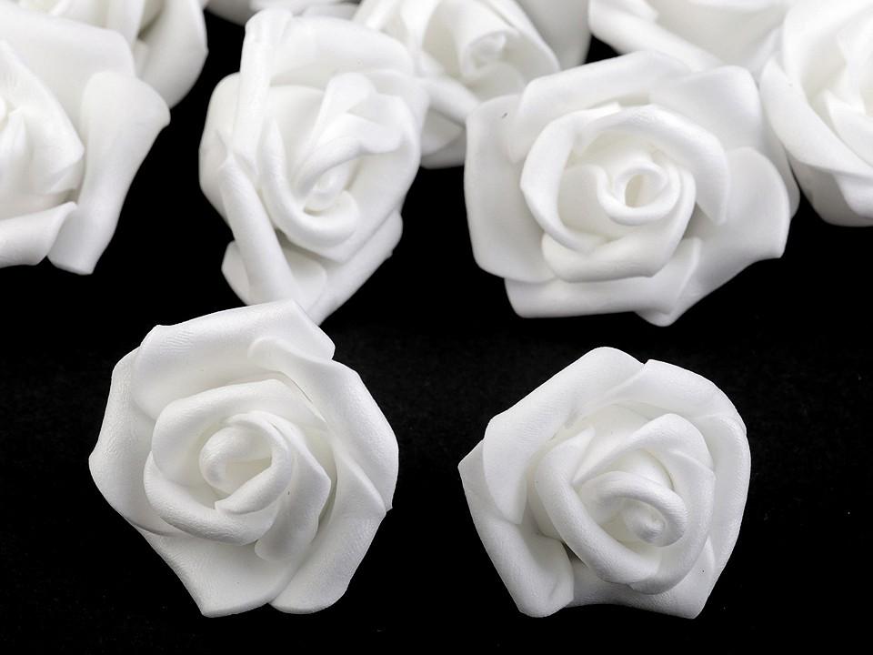 Dekorační pěnová růže Ø4 cm 10 ks