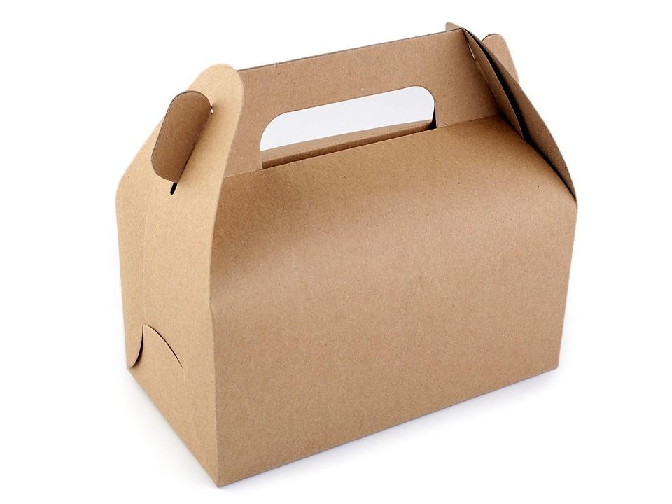 Papírová krabička natural s uchem 1 ks