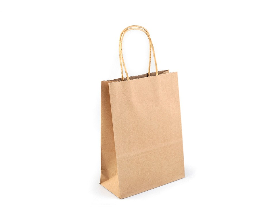 Papírová taška natural 12 ks