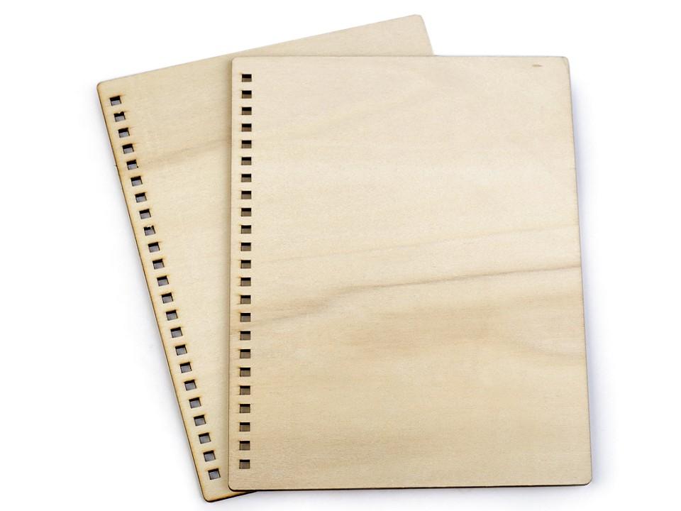 Dřevěné desky na výrobu zápisníku A5 2 ks