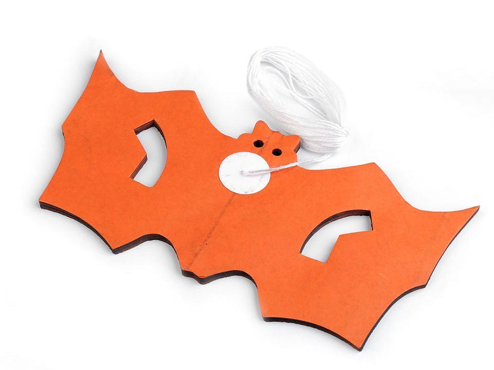 Halloweenská girlanda - dýně, netopýr 12 ks