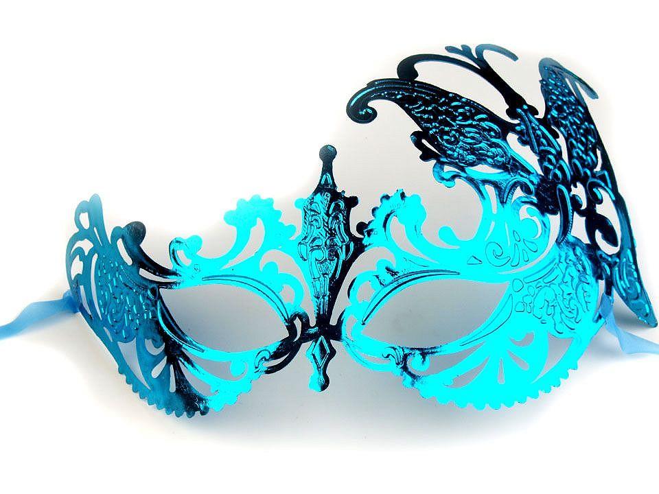 Karnevalová maska - škraboška 6 ks