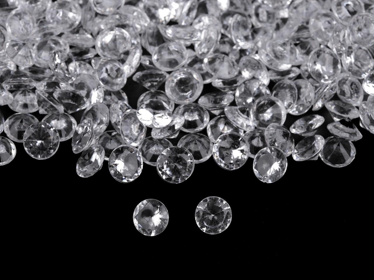 Dekorační diamantové kamínky Ø10 mm 1 ks