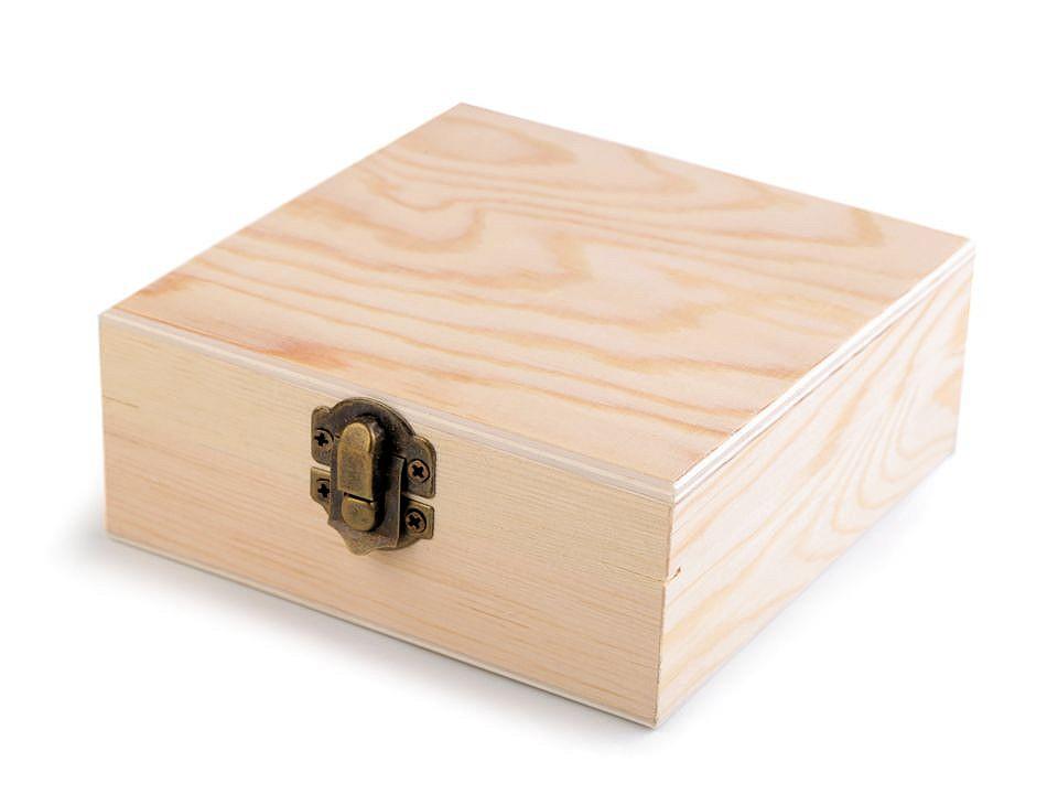 Dřevěná krabička k dozdobení 1 ks
