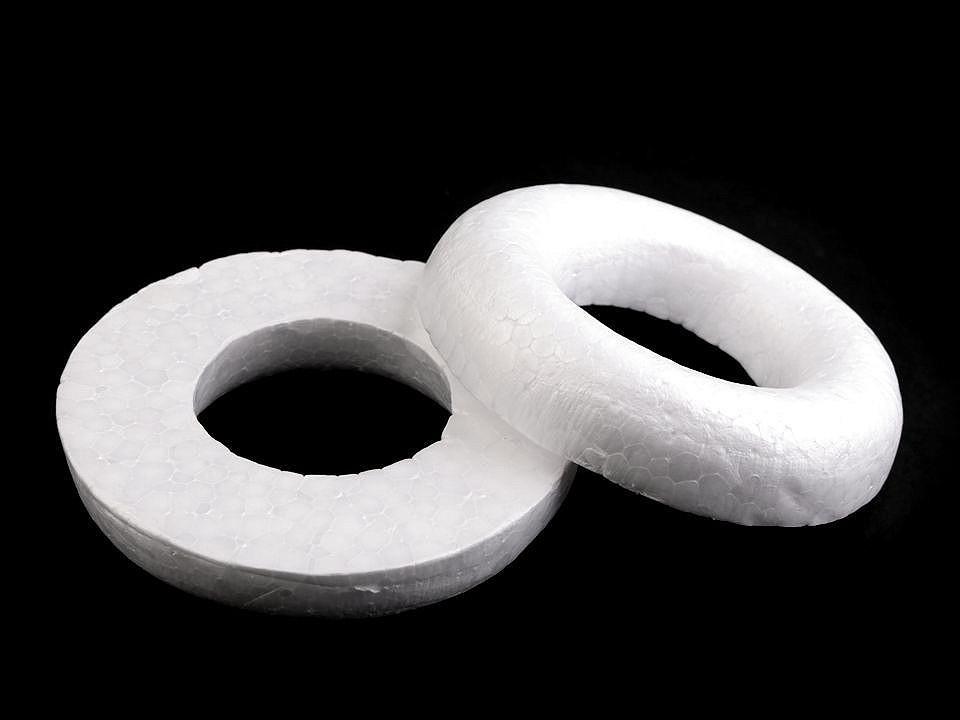 Věnec cca Ø10 cm polystyren seříznutý 10 ks