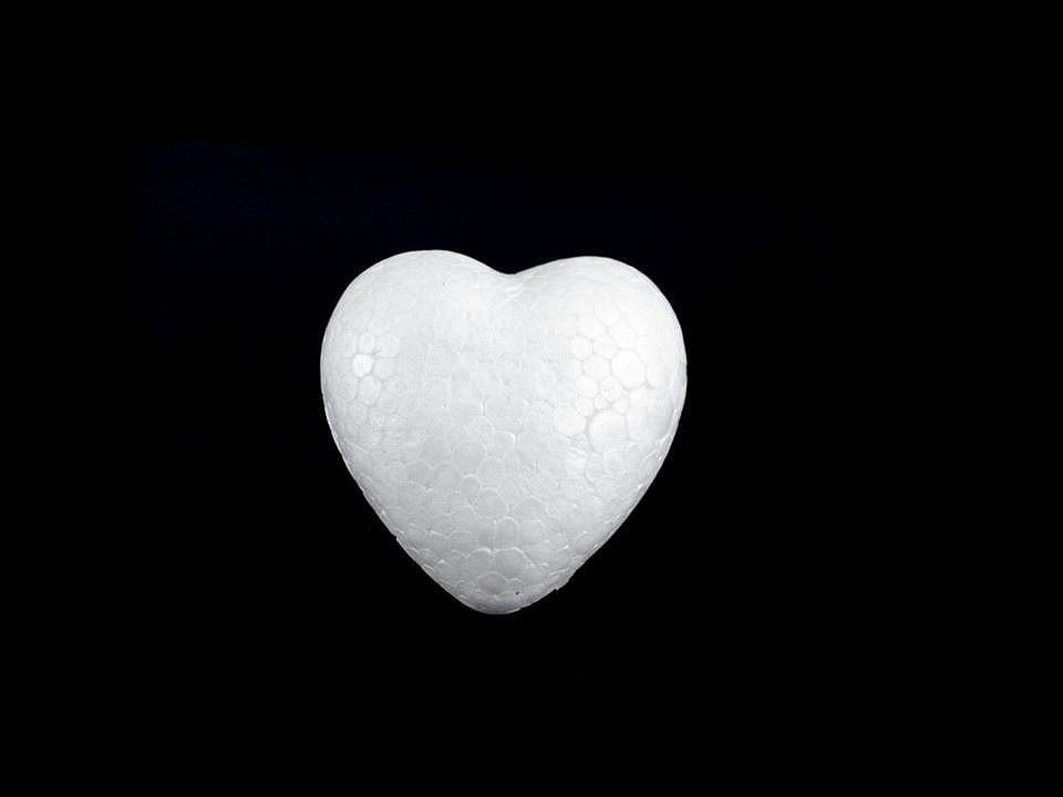 Srdce 3x3,4 cm polystyren 120 ks
