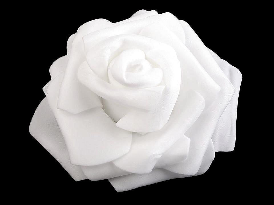 Dekorační pěnová růže Ø9 cm 10 ks