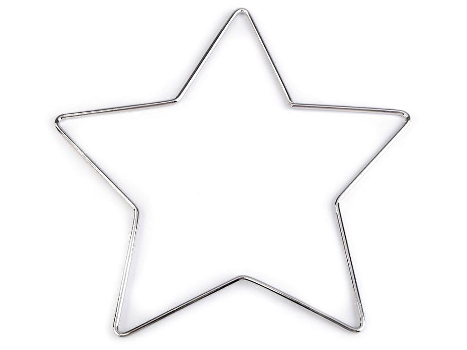 Kovová hvězda pro tvoření a lapače snů Ø20 cm 1 ks