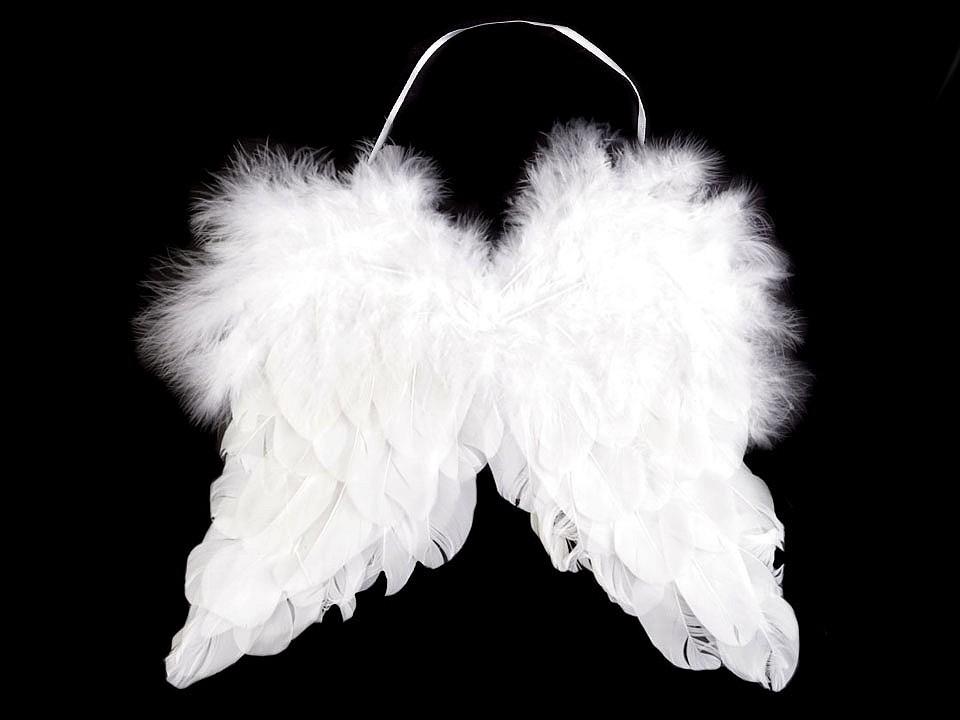 Dekorace andělská křídla 21x25 cm 1 ks