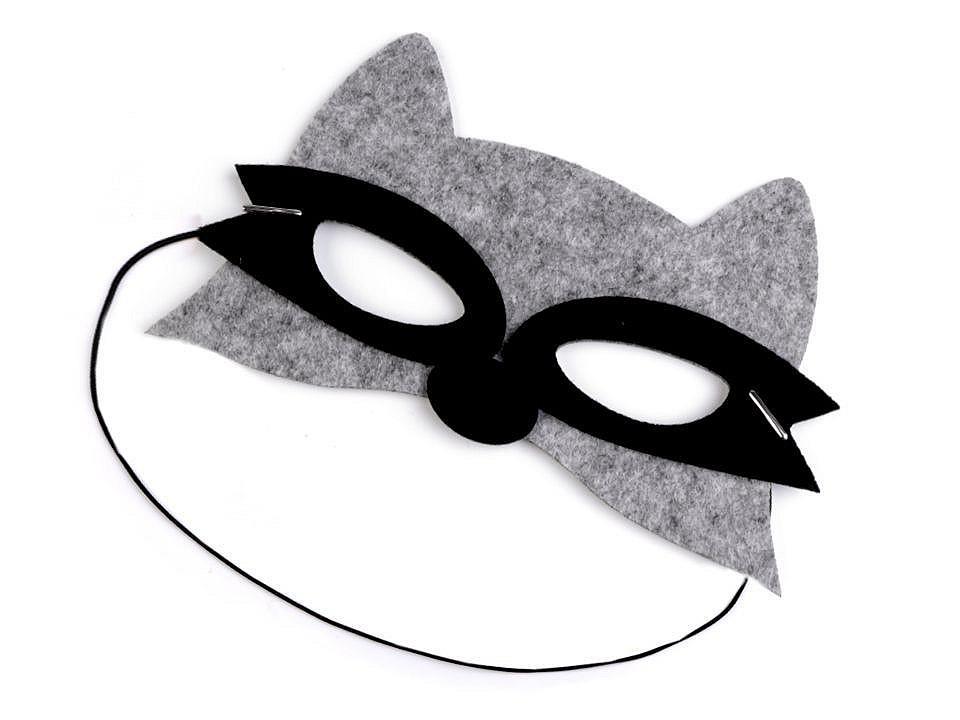 Dětská karnevalová maska - škraboška filcová zvířátka 1 ks