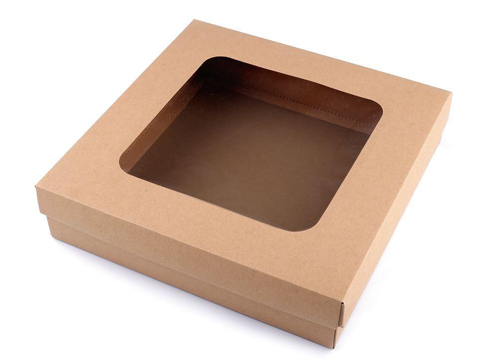 Dárková krabice s průhledem 20 ks