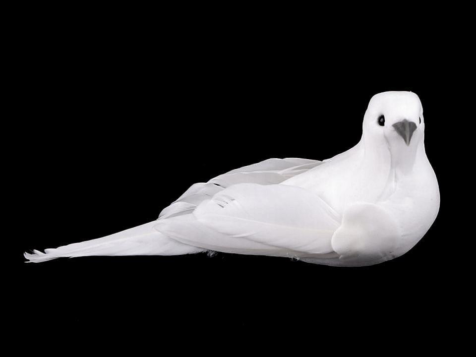 Dekorace ptáček / holubice  velká 1 ks