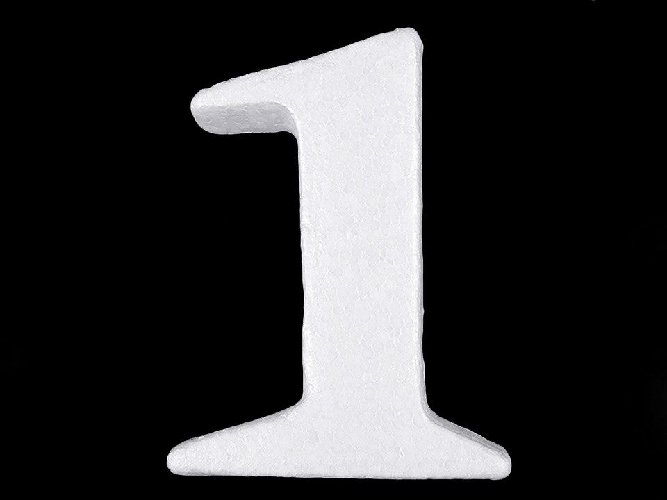 3D číslice výška 14 cm polystyren 1 ks