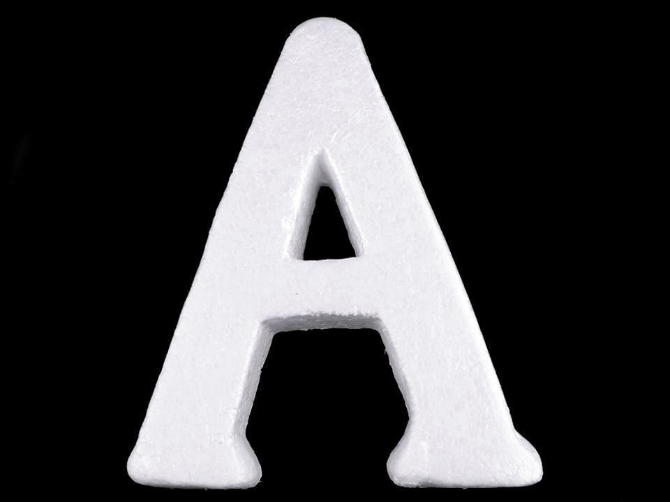 3D písmena abecedy polystyren 1 ks