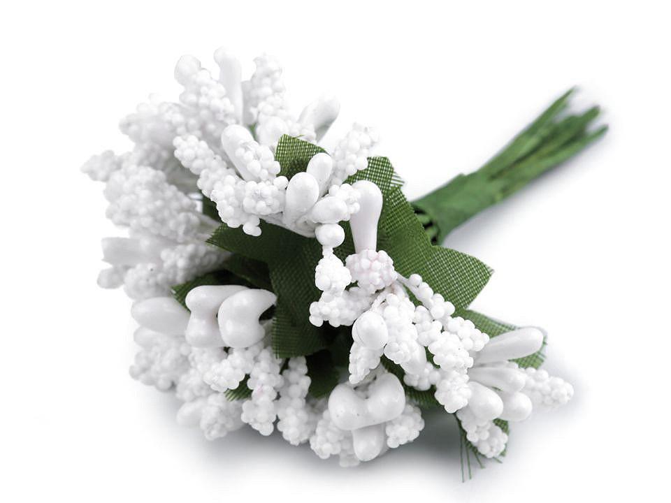 Květinové pestíky na drátku / vývazek 12 ks