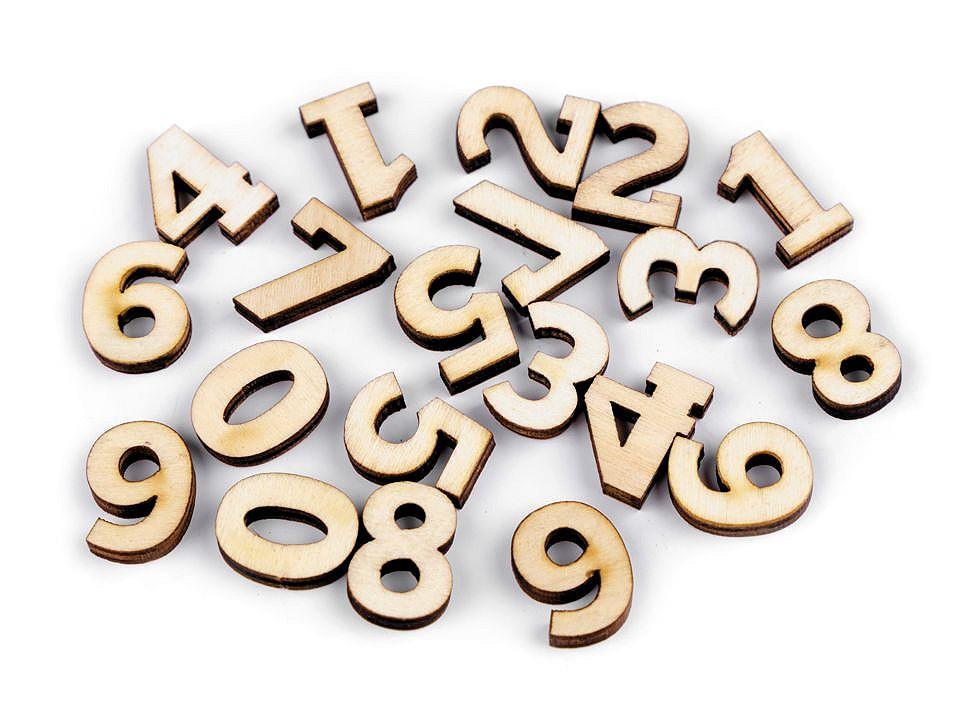 Dřevěná čísla malá 1 ks