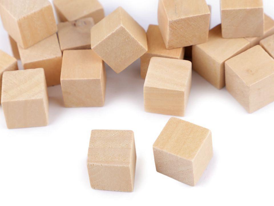 Dřevěné kostky 15x15 mm 20 ks