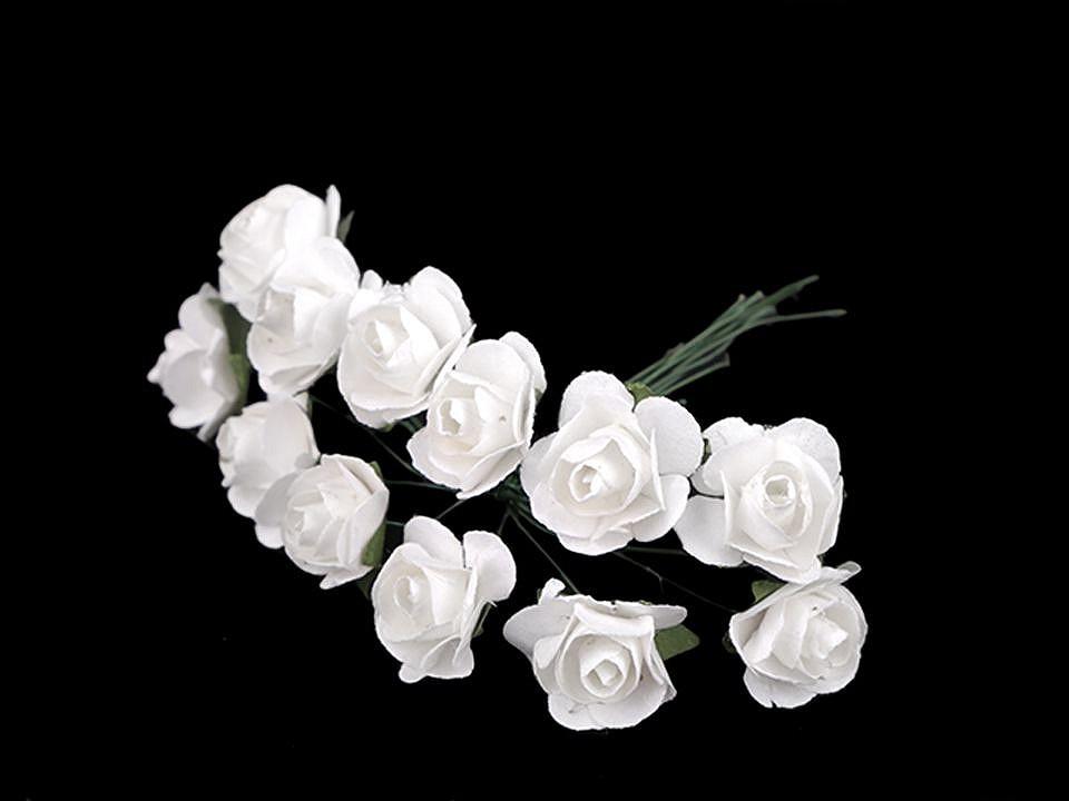 Růže na drátku / polotovar na vývazky Ø16 mm 1 ks