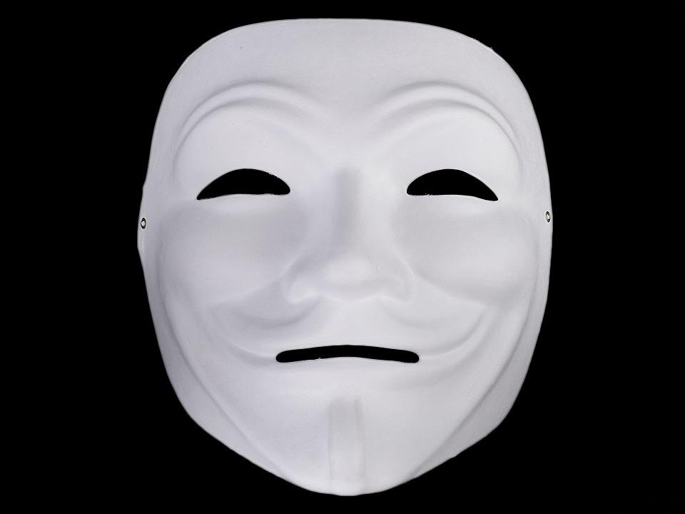 Karnevalová maska - škraboška k domalování 1 ks