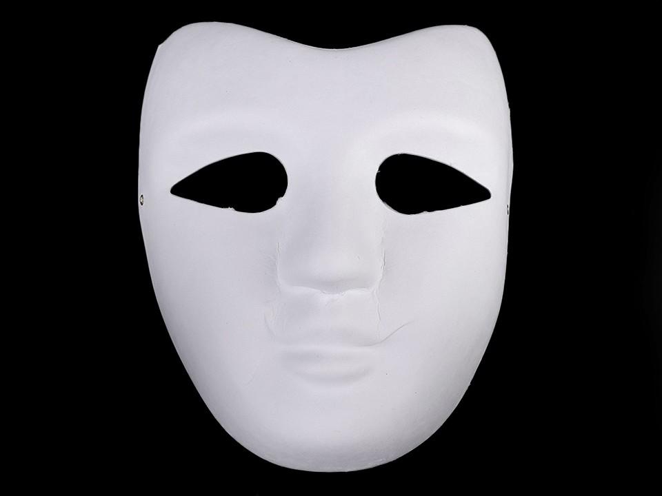 Maska na obličej k domalování 1 ks
