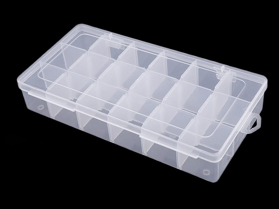 Plastový box / zásobník 12,5x23x4 cm 1 ks