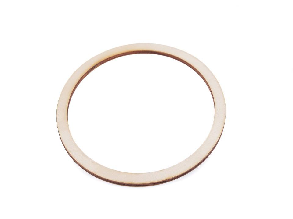 Dřevěný kruh na lapač snů Ø12 cm 10 ks