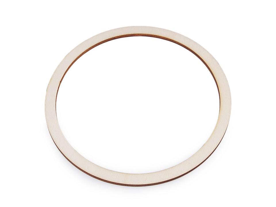 Dřevěný kruh na lapač snů Ø15 cm 10 ks