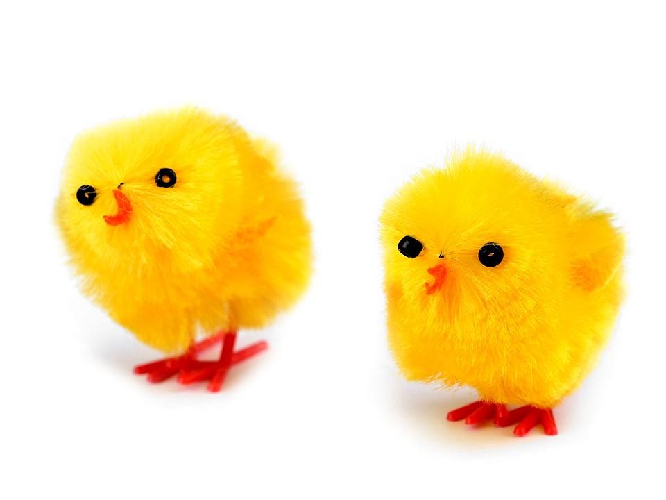 Velikonoční dekorace kuře 12 ks