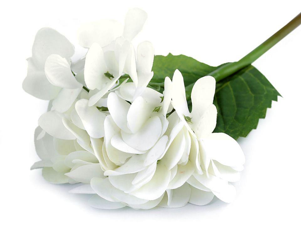 Umělá hortenzie velkokvětá k aranžování 1 ks