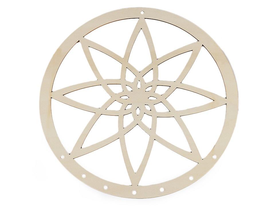 Dřevěný kruh na lapač snů mandala Ø25 cm 1 ks