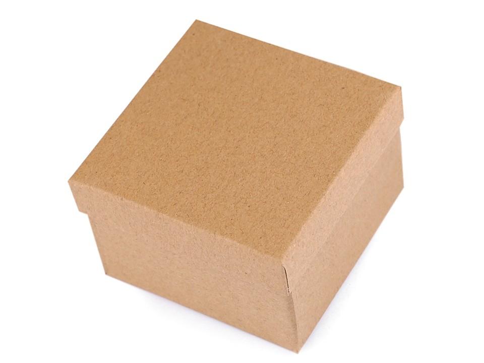 Krabička na hodinky natural 9x9 cm 1 ks