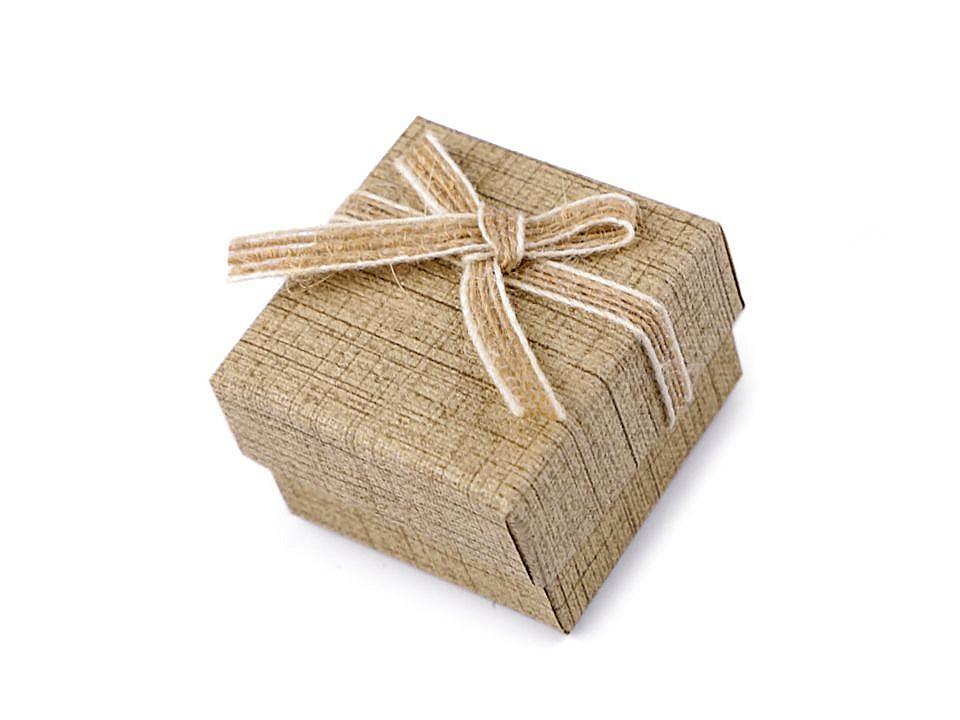 Krabička na šperky 5x5 cm 2 ks