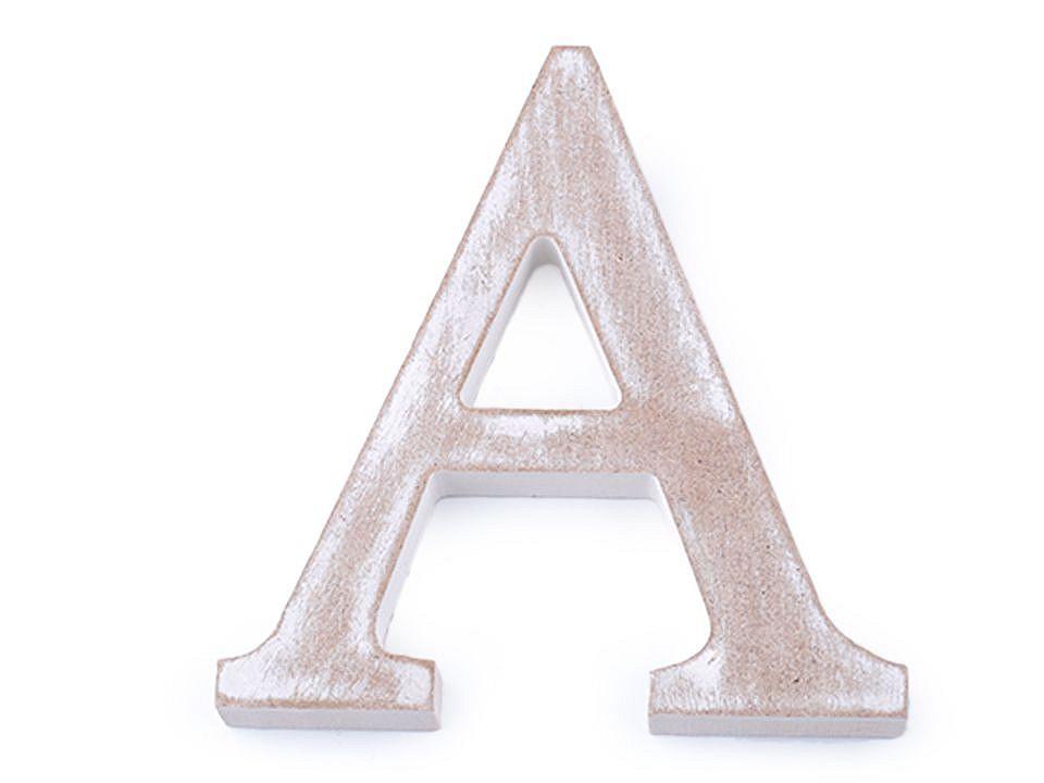 Dřevěná písmena abecedy vintage 1 ks