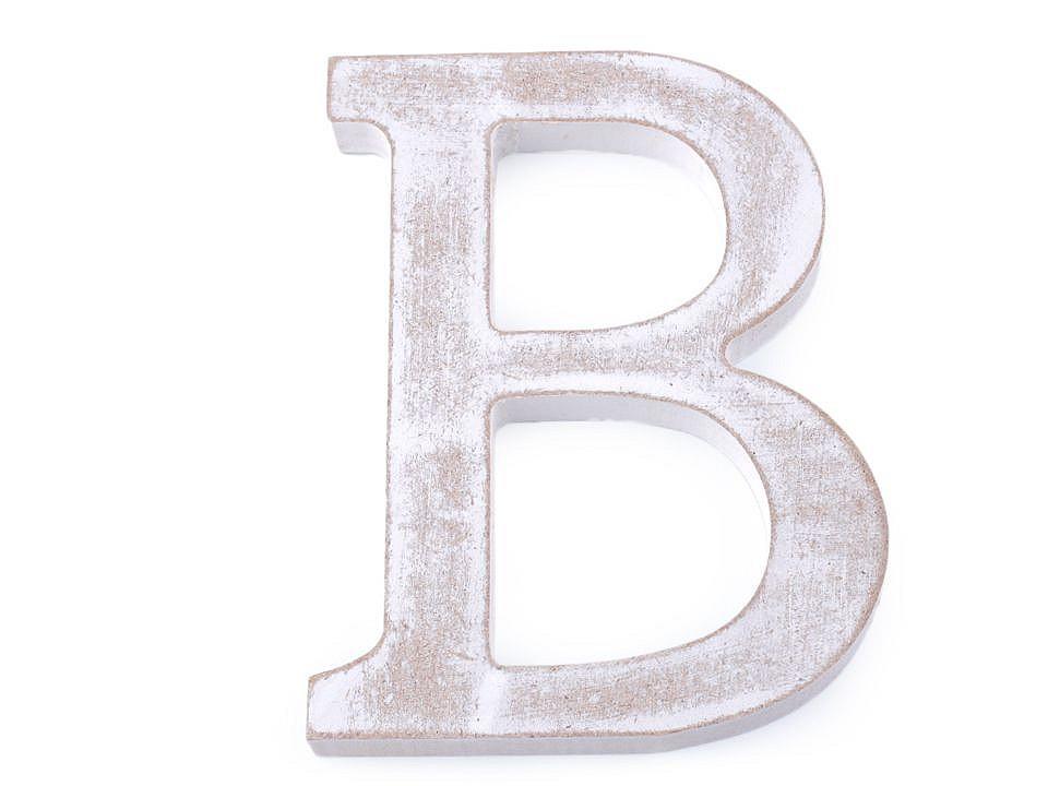 Dřevěná písmena abecedy vintage 12 ks