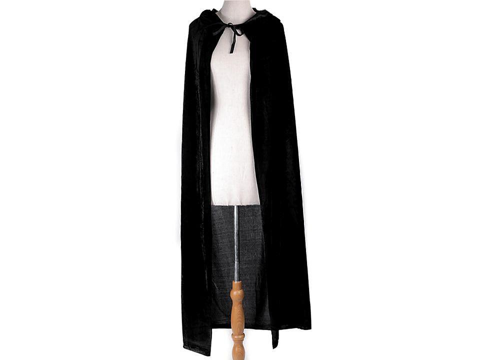 Karnevalový sametový plášť s kapucí 1 ks