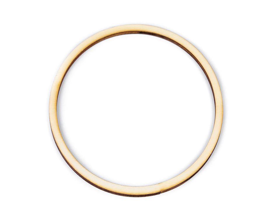 Dřevěný kruh na lapač snů / k dekorování Ø13 cm 10 ks