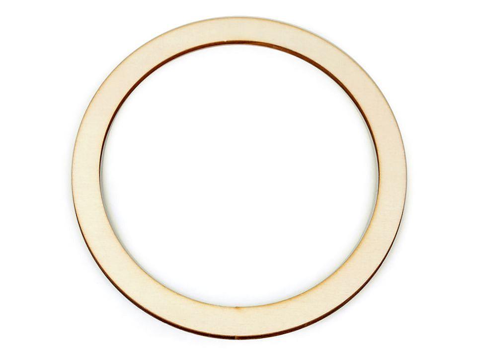 Dřevěný kruh na lapač snů / k dekorování Ø18 cm 10 ks