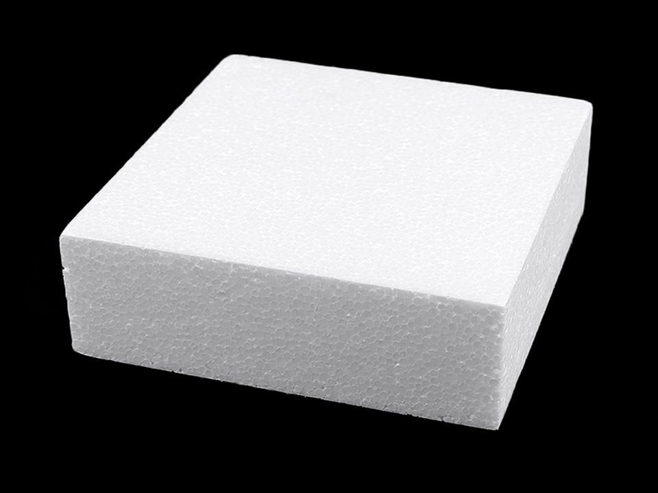 Čtvercový korpus / podstavec 20x20 cm polystyren 1 ks