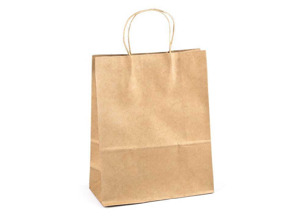 Papírová taška natural 26x32 cm 25 ks